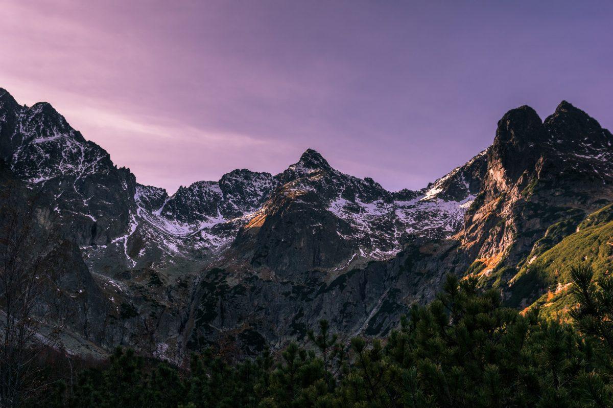 The peak of Cierny as seen from Zelene lake beneath