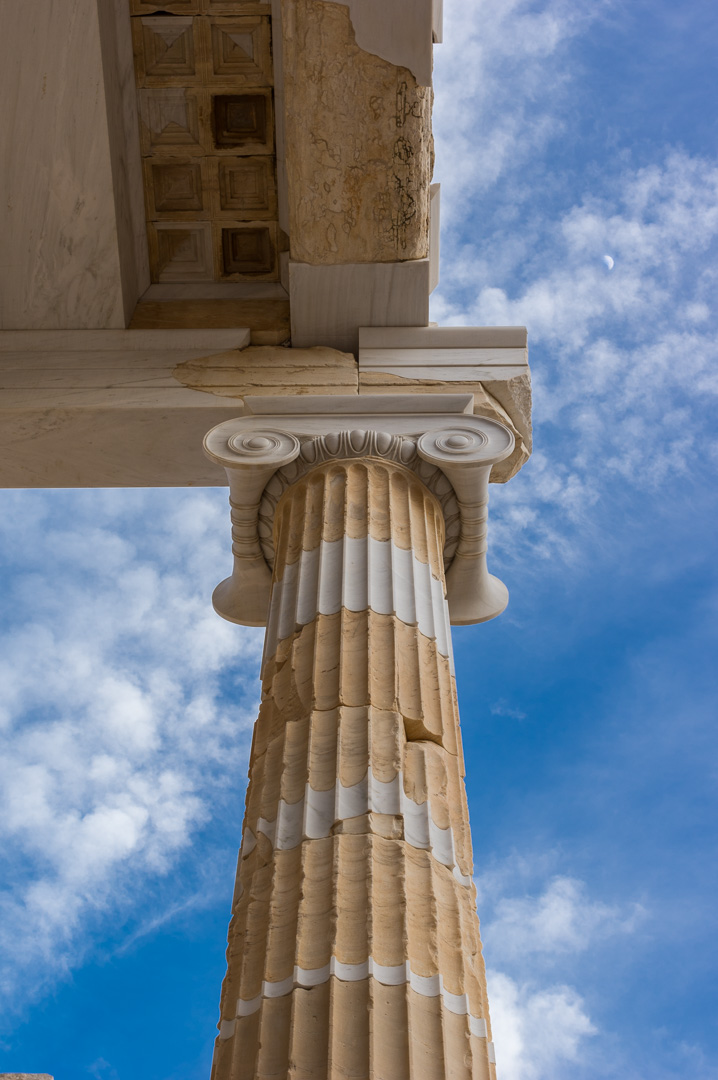 Ionic column of Propylaea in Acropolis