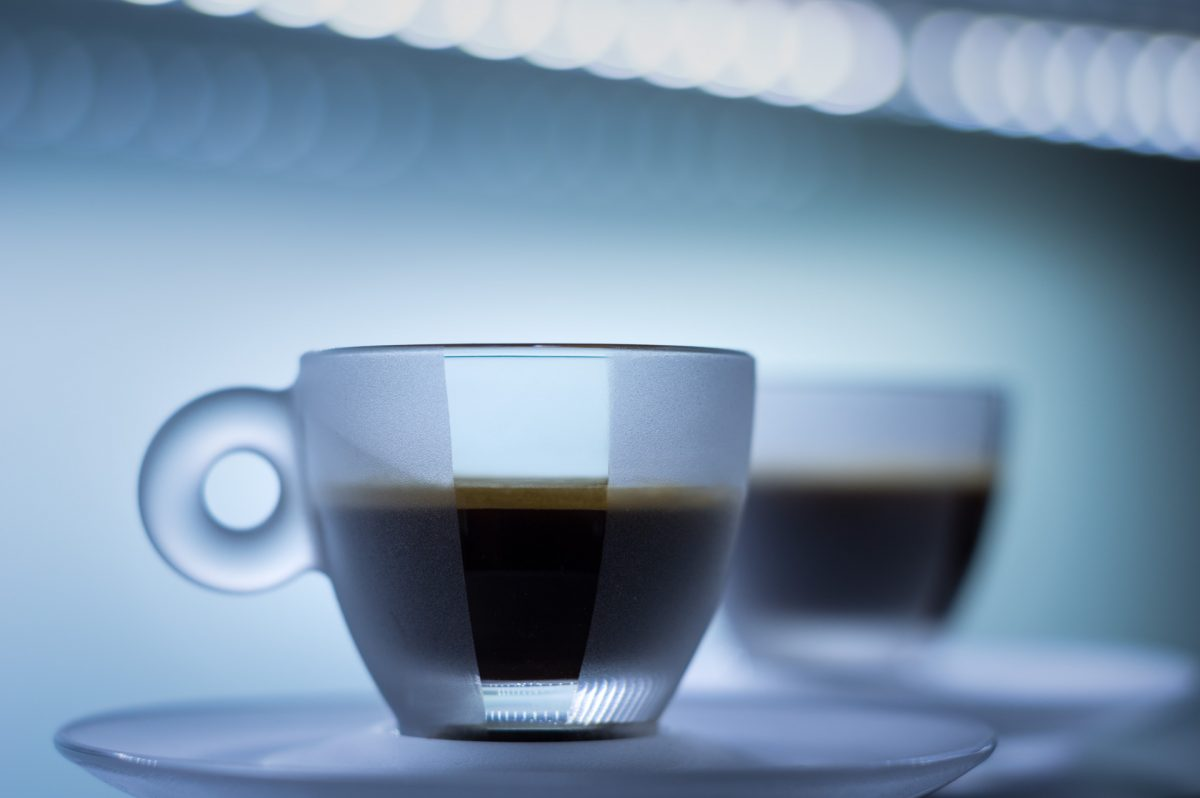 two espresso cups