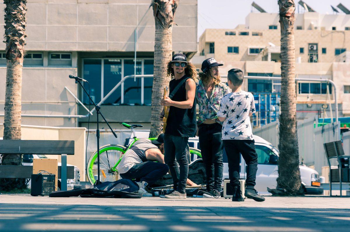 Reggae musicians at the promenade of Tel Aviv