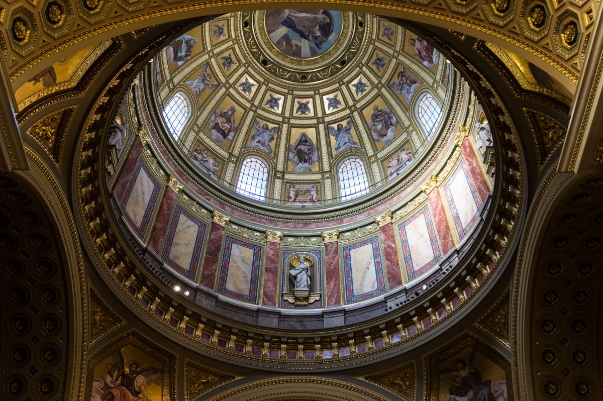 Interior image of St. stephen's dome